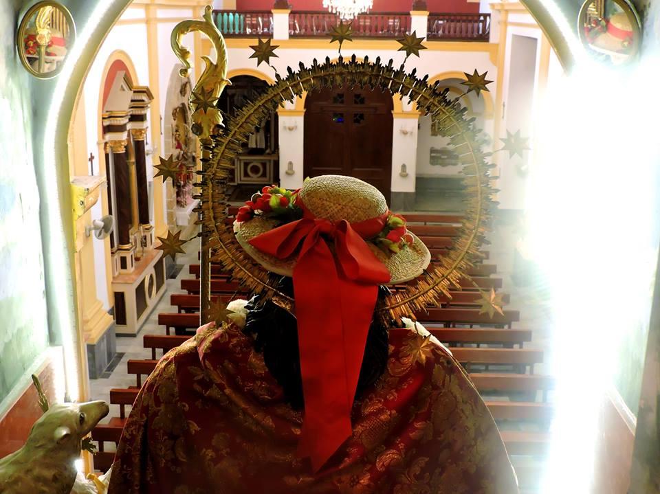 El interior de la Iglesia de La Pastora vista desde el camarín de su titular.