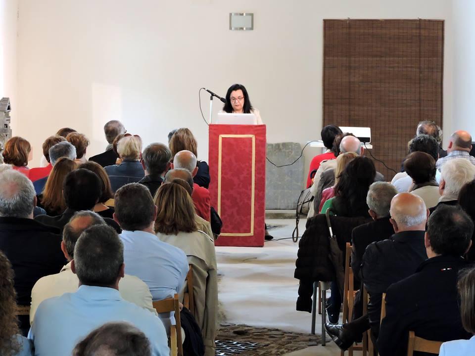 La historiadora y escritora Carmen Orcero abrió el acto.