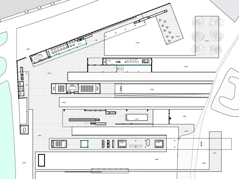 Plano del proyecto donde puede observarse el grueso de la distribución.