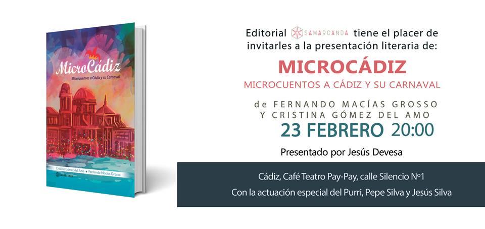 Cartel de la presentación del libro por sus autores en el Café Teatro Pay Pay (Cádiz).