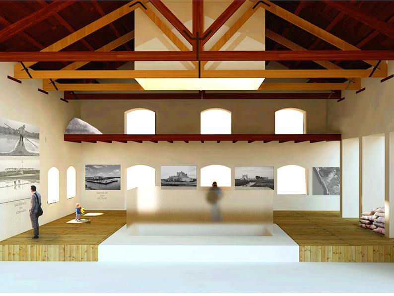 Esquema idealizado del interior de una casa salinera.
