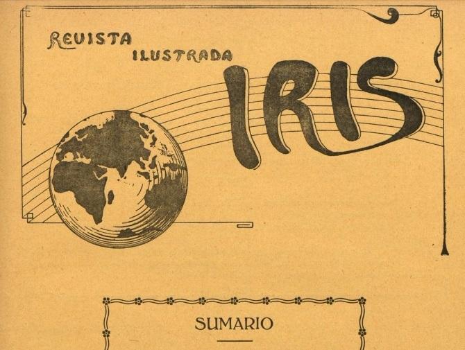 Logo de la Revista Ilustrada Iris, editada en San Fernando en 1914.