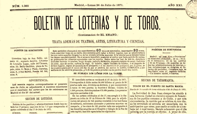 Primera página de la edición que contiene la noticia transcrita.