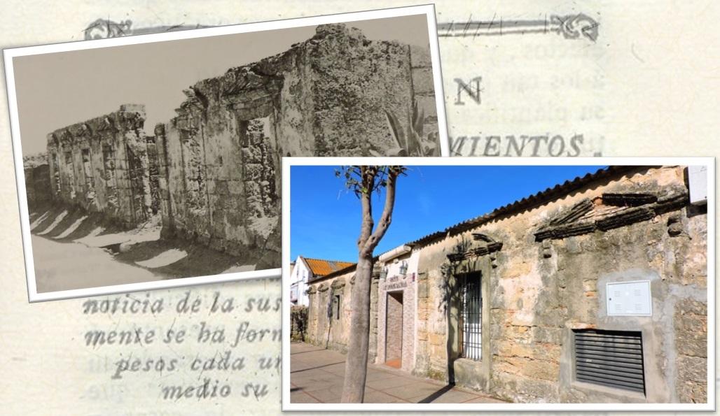 Restos de uno de los edificios, en los 60 (Quijano) y en la actualidad.