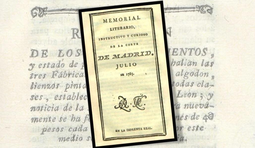 Publicación que acogió los presentes artículos en la penúltima década del siglo XVIII.