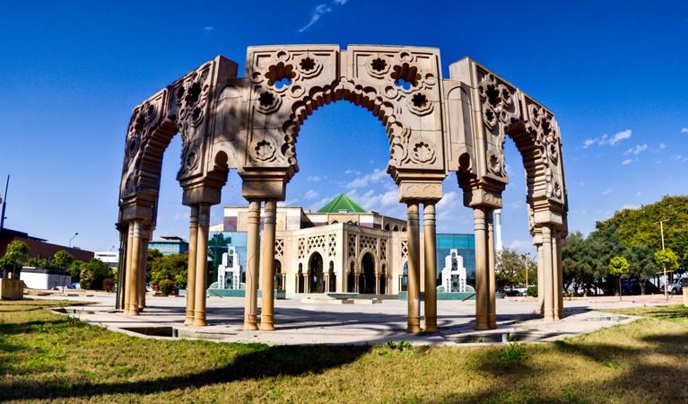 Inmediaciones del Pabellón de Marruecos, sede de la Fundación.