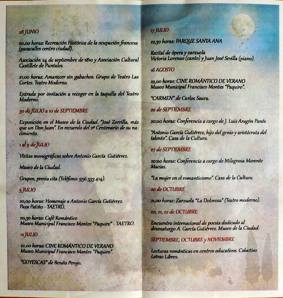 Programa completo con todas las actividades, fechas y lugares.