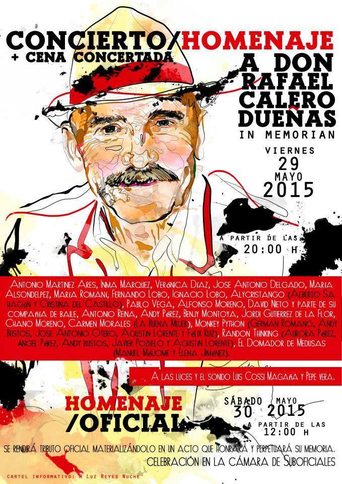 Homenaje a Don Rafael Calero Dueñas.