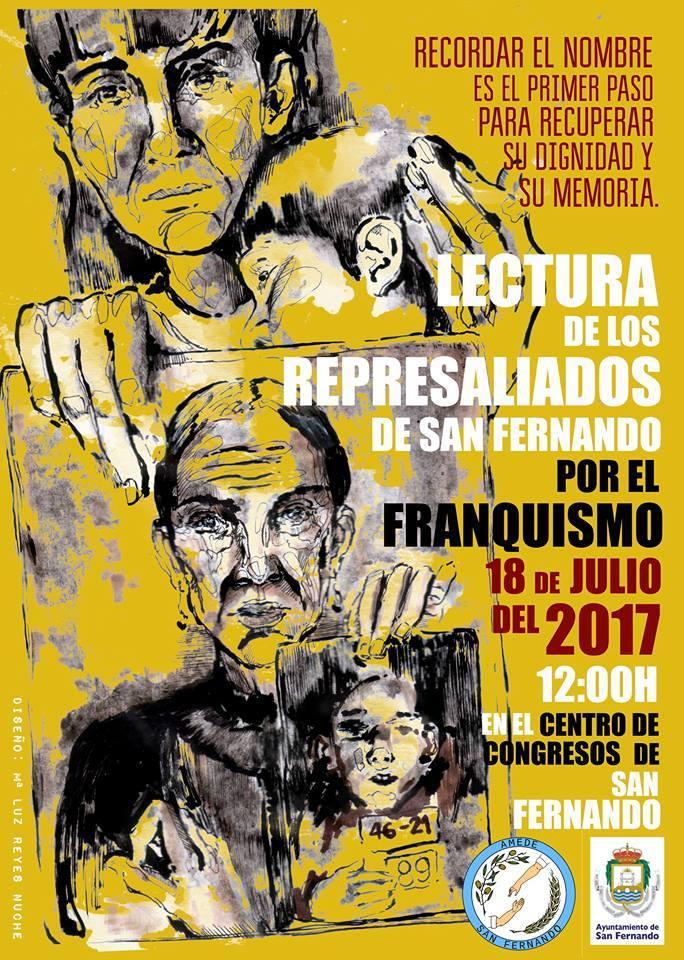 Lectura de Represaliados de San Fernando por el Franquismo.