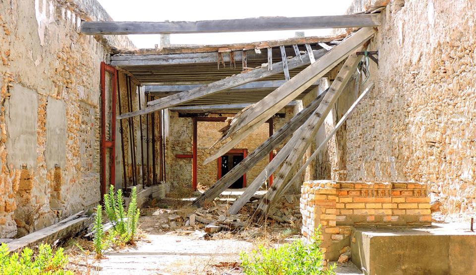 La antigua sala de la molienda, de las más antiguas del molino, en su estado actual.