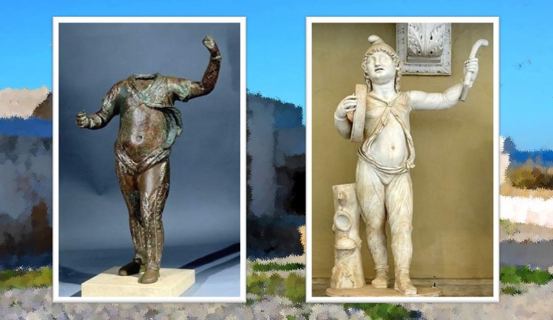 Attis de Sancti Petri. Museo Arqueológico Nacional / Escultura de Attis con sus atributos en el Museo Chiaramonti del Vaticano.