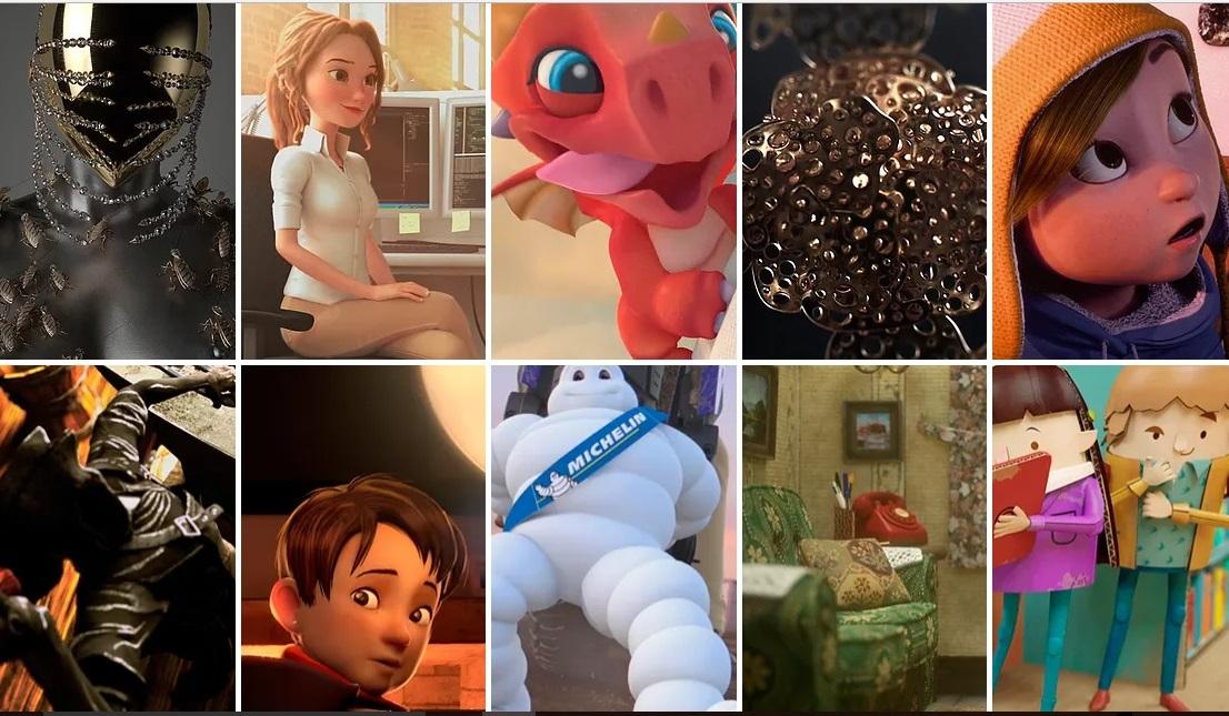 Detalle de algunos de los trabajos de animación realizados por Leonstudio.