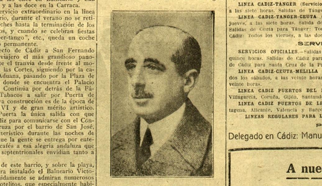 El conde de Ibangrande, presidente del Comité de Unión Patriótica de San Fernando.