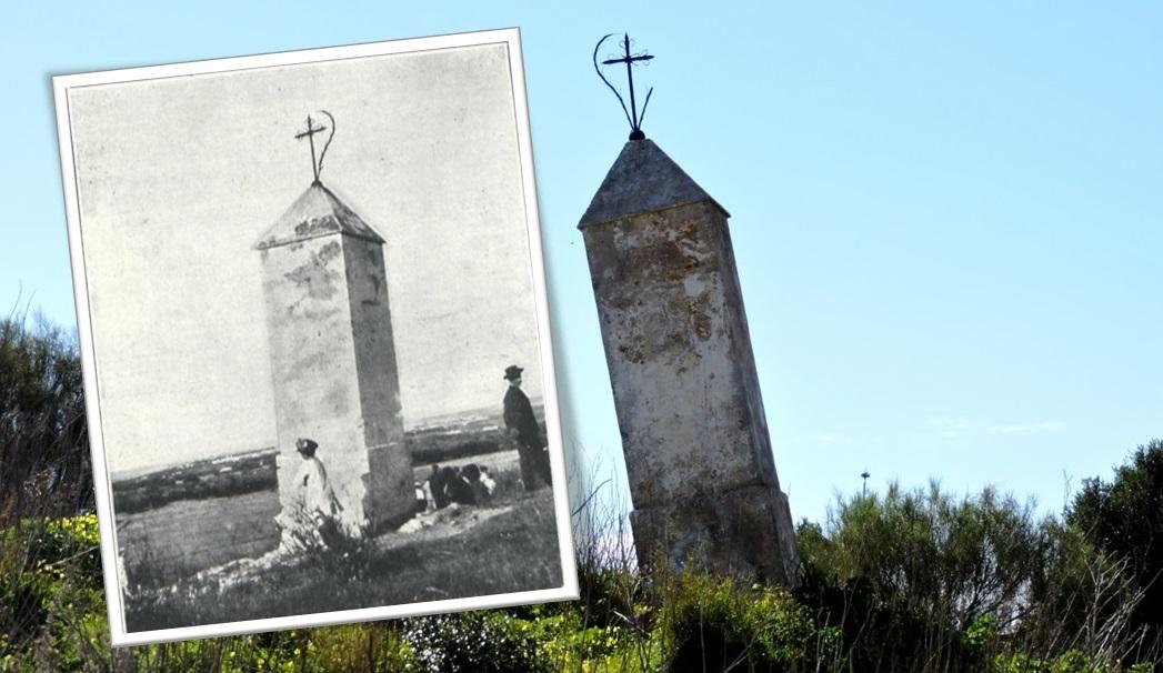 Segundo monumento conmemorativo a los Mártires en 1911 y en la actualidad.