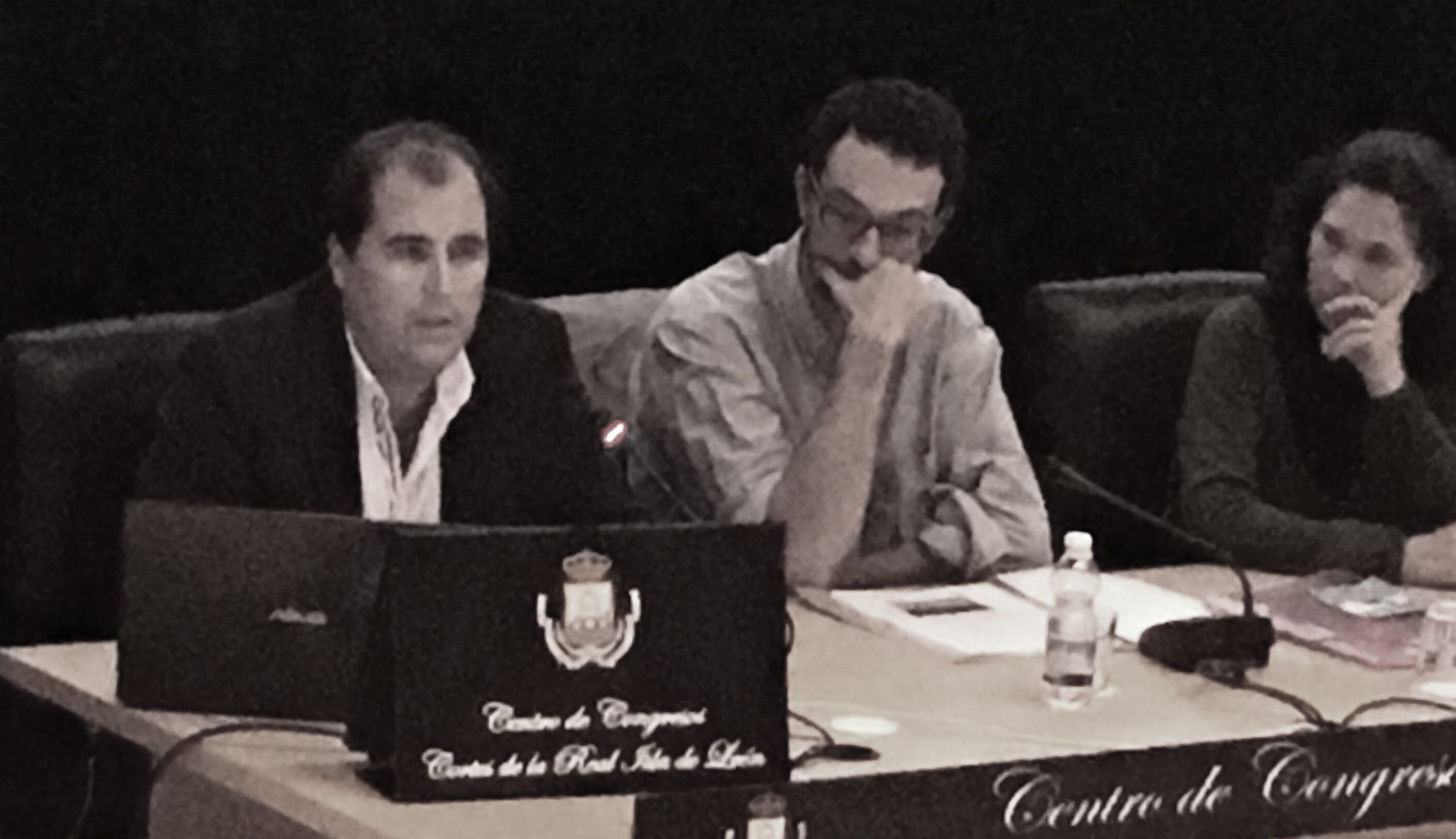 De izda. a dcha.: Eduardo Vijande Vila, Francisco Terán Santander y Margarita Ristori Romero
