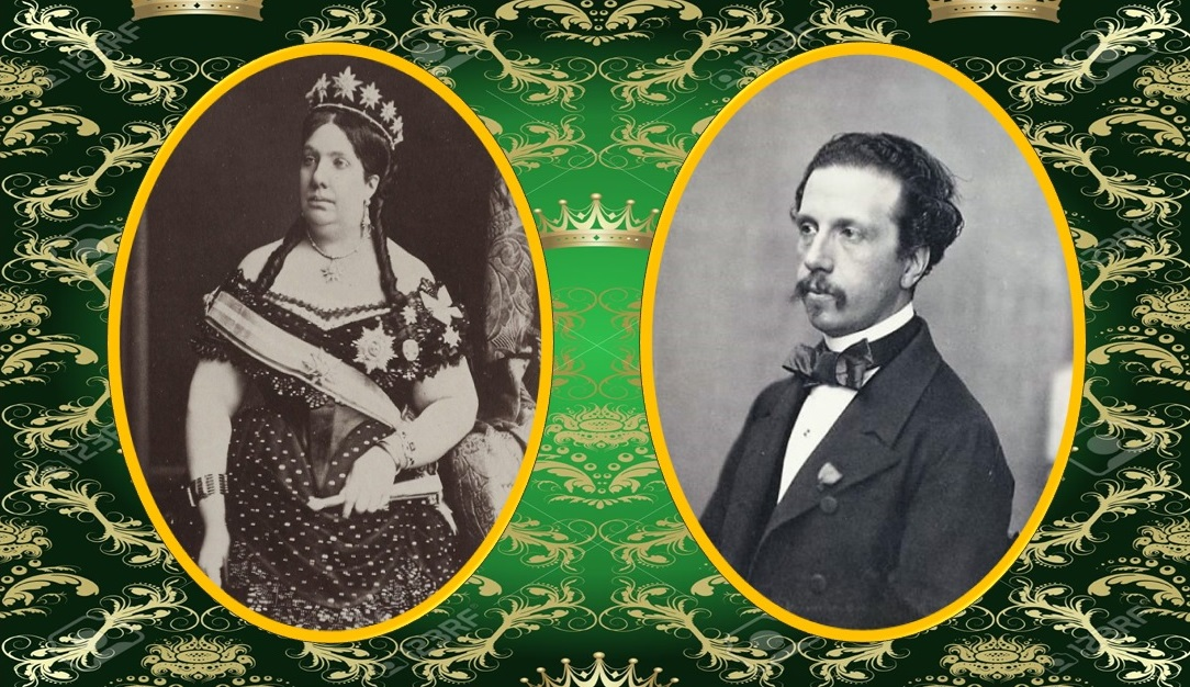 Isabel II (1830-1904) y Francisco de Asís (1822-1902).