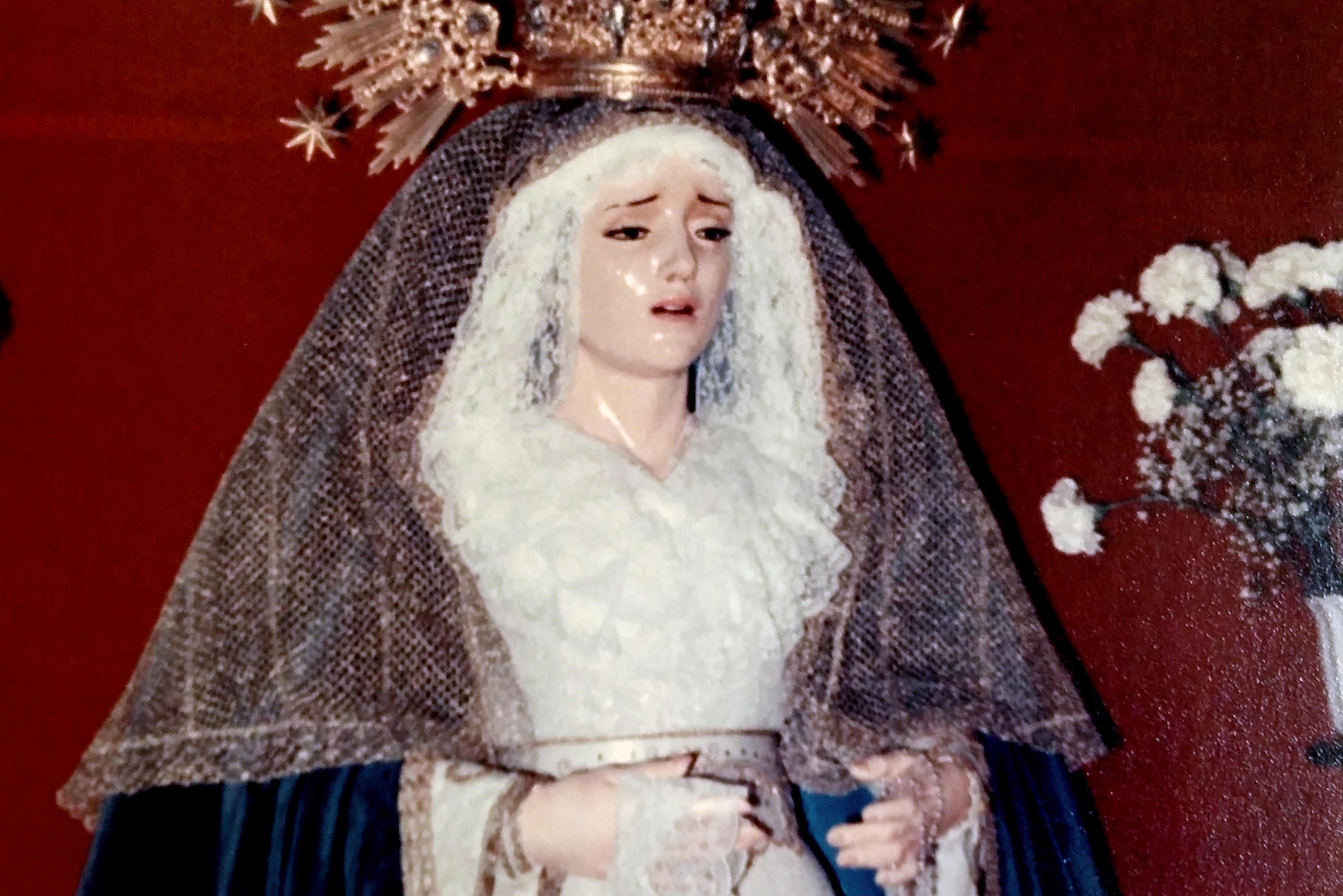 Ntra. Sra. de la Paz el día de su bendición el 31 de marzo de 1985.