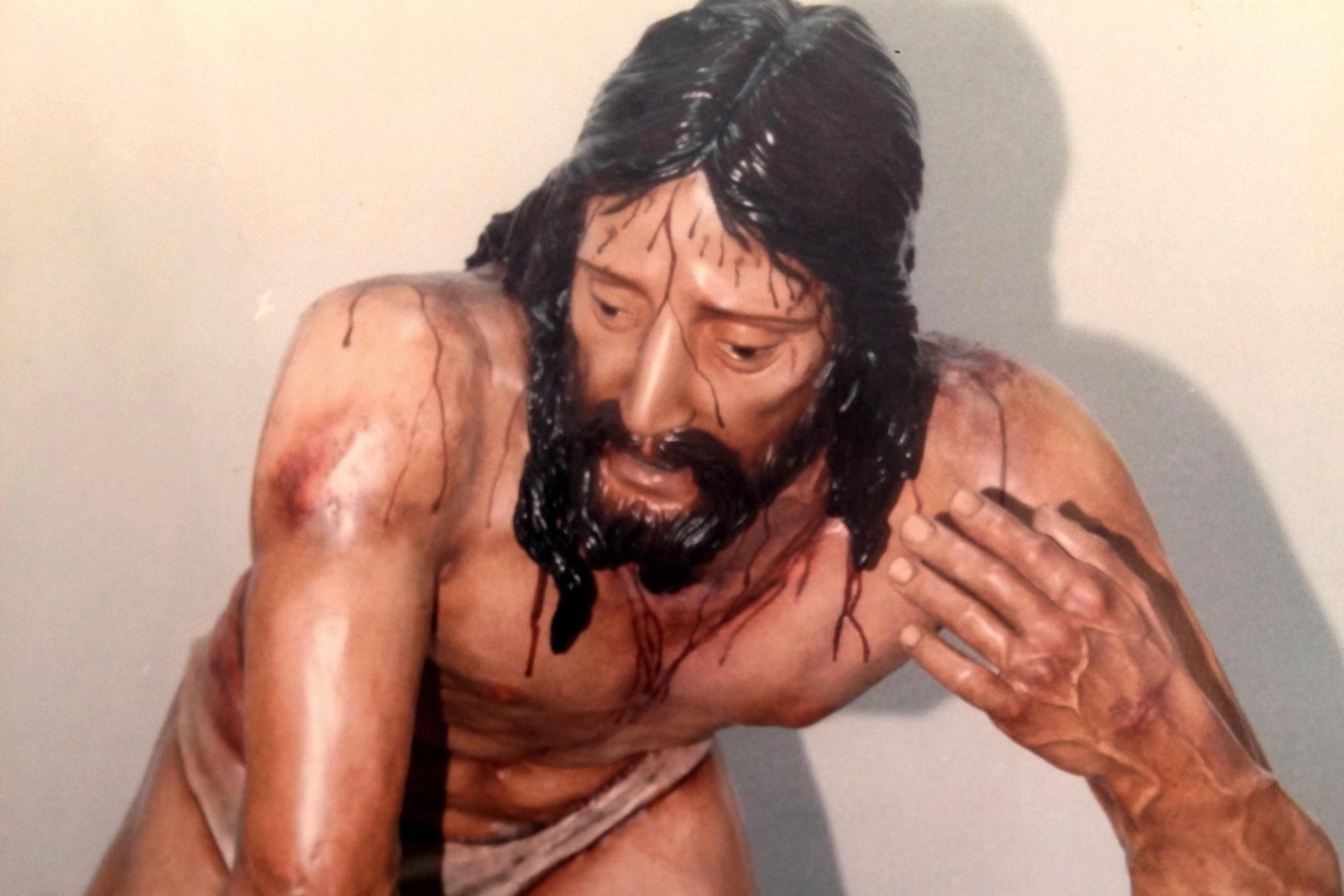 El Cristo de las Tres Caídas recién ejecutado.