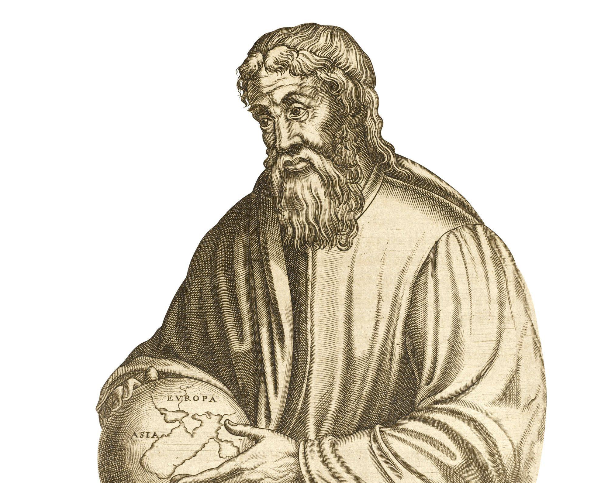 Recreación idealizada del autor clásico Estrabón.