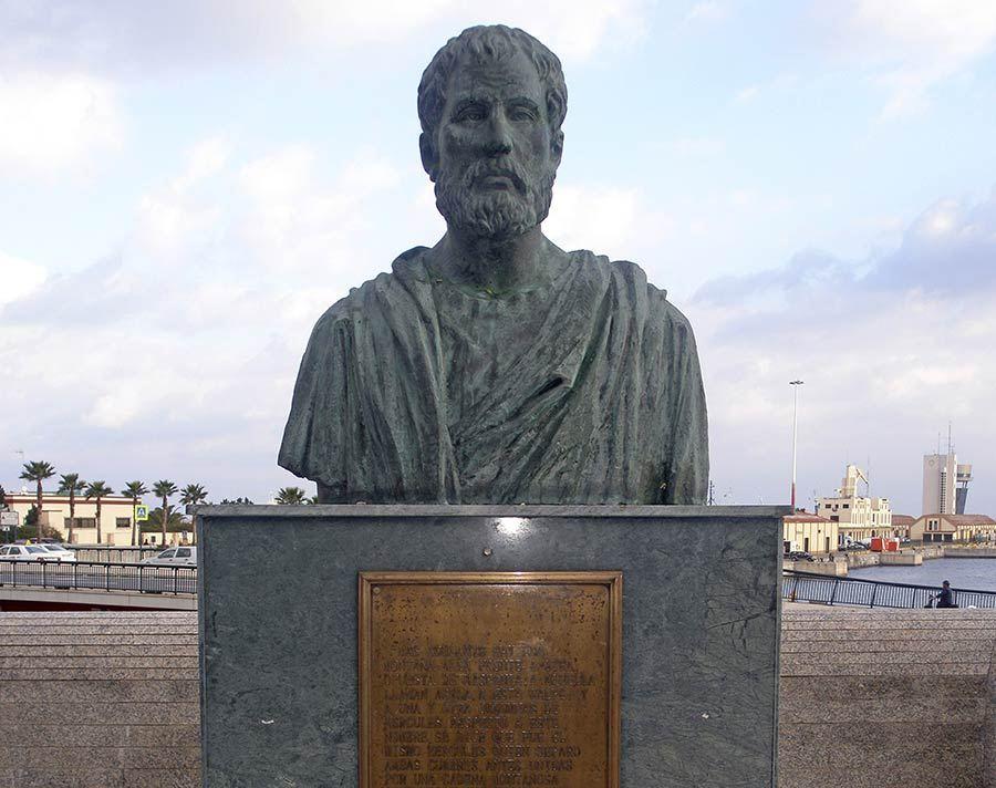 Pomponio Mela en el Paseo de la Palmera (Ceuta).