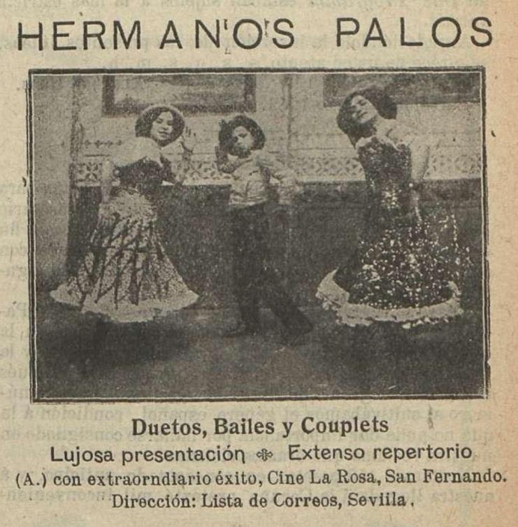 Los Hermanos Palos actuaron en el primer Cine La Rosa en 1911.