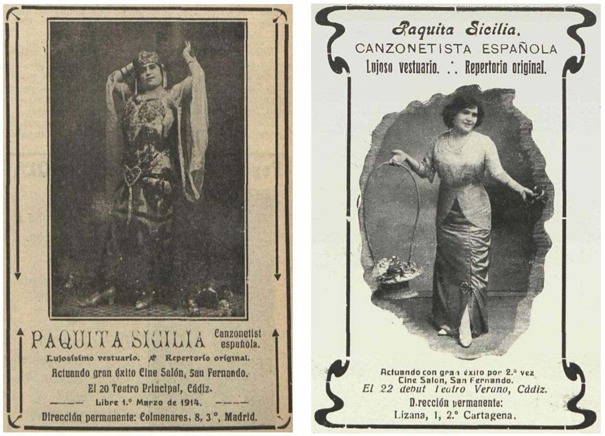 Paquita Sicilia Paquita Sicilia, estrenó nuevo decorado firmado por el escenógrafo Antonio Díaz Macías en 1914.