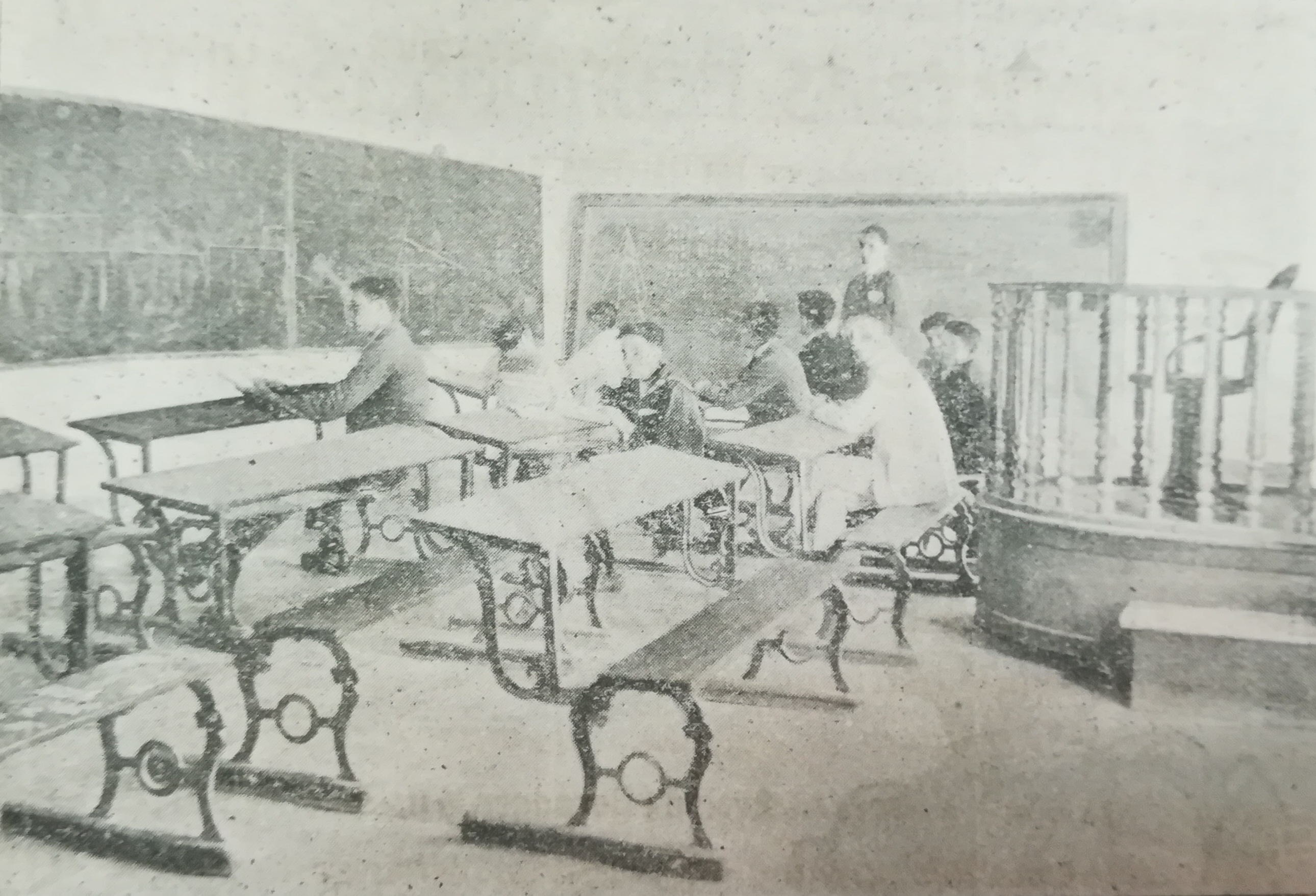 Una de las aulas en las que Gonzalo Olivera Manzorro impartía sus clases.