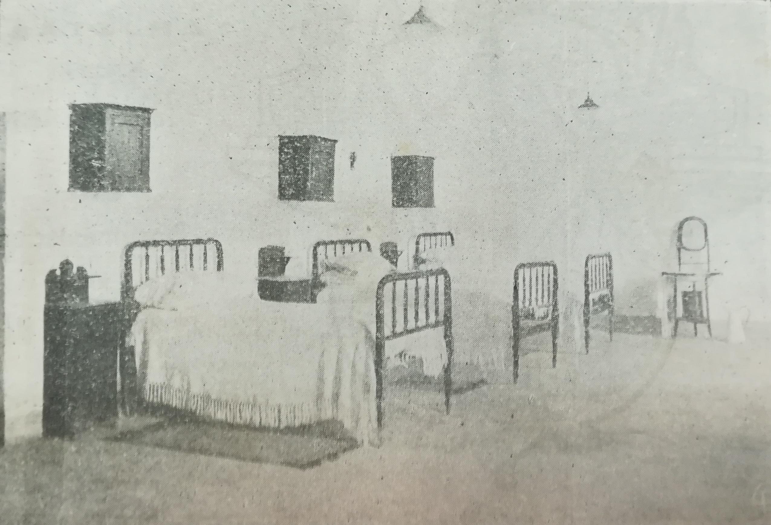 Los dormitorios de los internos en la Academia Olivera.