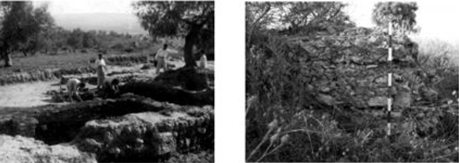 Comparativa de las excavaciones de M. Esteve y estado de conservación actual de las mismas (fotografías tomadas por Daniel J. Martín-Arroyo Sánchez) (SANCHEZ BONILLA y SANTIAGO PÉREZ, 2010: 171).