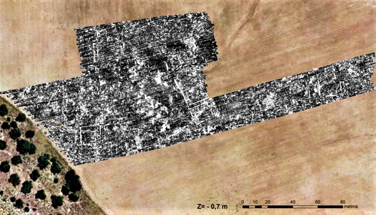 Primera imagen urbanística mediante georradar de Asta Regia.